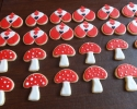 Sugar cookie playing card soldiers and toadstools