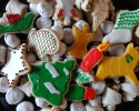 Christmas sugar cookie cutouts - Nut Horns - Snowballs