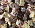 Cordial Cups - Festive Cherry Drops - Lemon Almond Cookie Brittle - Mocha Strips