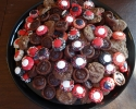 Chocolate Truffle Cups - Reese's Peanut Butter Cup Cookies - Thumbprints (red, black and white)