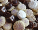 Chocolate Dipped Bride and Groom Oreos - Chocolate Fleck Shortbread - Chocolate Truffle Cups - Fairy Drops (purple)