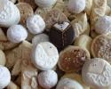 Chocolate Dipped Bride and Groom Oreos - Fairy Drops (white) - Nut Balls - Pecan Pie Slices - Scandinavian Almond Strips