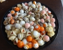 Coconut Macaroons - Colored Thumbprints (orange) - Frosted Cherry - Lemon Drops - Nut Horns - Salted Caramel Thumbprints - Strawberry Lilies