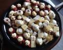 Chocolate-Dipped Citrus Strips - Lemon Drops - Raspberry Almond Thumbprints - Red Velvet Cookies