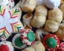 Apricot Meltaways - Christmas cutouts - Colored thumbprints (red and green) - Lady Locks - Nut Balls - Raspberry Almond Thumbprints