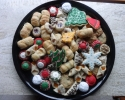 Apricot Meltaways - Bishops Hats - Christmas cutouts - Chocolate Chip - Chocolate Raspberry Turnovers - Colored Thumbprints - Lady Locks - Nut Balls - Pecan Tassies - Raspberry Almond Thumbprints