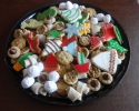 Christmas cutouts - Chocolate Chip - Nut Balls - Nut Horns - Peanut Butter Blossoms - Peace Tassies