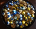 Chocolate Chip - Thumbprints (black & gold; royal & white)