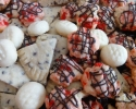 Chocolate Fleck Shortbread - Festive Cherry Drops - Melting Moments
