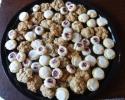 Almond Tarts - Oatmeal Chocolate Chip - Raspberry Almond Thumbprints
