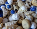 Coconut Macaroons - Colored Thumbprints (royal blue and white) - Double Almond Delights (UFOs) - Lemon on Lemon - Nut Balls - Peanut Butter Bites