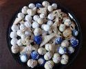 Blueberry Meltaways - Colored Thumbprints (royal blue) - Double Almond Delights (UFOs) - Lemon on Lemon - Nut Balls - Peanut Butter Bites