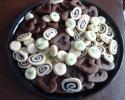 Blueberry Pinwheels - Chocolate-Filled Hearts - Vanilla Sugar Crisps