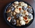 Caramel Almond Swirls - Chocolate Chip - Chocolate Crinkles - Coffee Shortbread - Strawberry Lilies