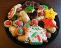 Chocolate Truffle Cups - Christmas cutouts - Christmas Thumbprints - Lady Locks