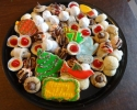 Christmas cutouts - Festive Cherry - Lady Locks - Lemon Crimkles - Mini Cheesecakes - Nut Balls - Nut Horns - Peanut Butter Blossoms