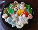 Christmas cutouts - Pastel cream wafers