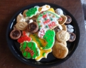 Almond Caramel Swirls - Chocolate Crinkles - Chocolate Truffle Cups - Christmas cutouts - Snickerdoodles