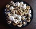 - Buckeyes - Italian knots - Peanut Butter Blossoms - Pecan Tassies