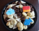 Chocolate Truffle Cups - Lemon on Lemon - Sugar Crinkles - Sugar cookie cloud, fish, and flames