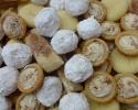 Cafe Macchiato Cups - Chocolate Cinnamon Strips - Nut Balls - Vanilla Crinkles