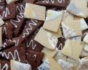 Corduroy cookies (silver & gold) - Dark Chocolate Espresso Shortbread