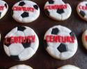 Sugar cookie soccer balls