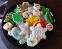 Christmas cutouts - Pastel cream wafers