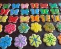 Sugar cookie flowers and butterflies