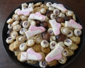 Cafe Macchiato Cups - Chocolate Chip - Chocolate Dipped Chocolate Cookes - Nut Horns - Raspberry Almond Thumbprints - Sugar cookie ballet slippers