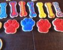 Sugar cookie paws, dog bones and rounds (Paw Patrol)