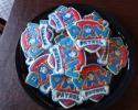 Sugar cookie Paw Patrol logos