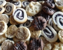 Blueberry Pinwheels - Chocolate Caramel Thumbprints - Lemon White Chocolate Chip - Pecan Tassies