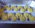 Sugar cookie light bulbs