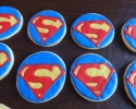 Sugar cookie Superman logos
