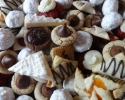 Apricot Pinwheels - Chocolate Raspberry Turnovers - Chocolate Truffle Cups - Lemon on Lemon - Nut Balls - Peanut Butter Blossoms - Peanut Butter Spritz - Red Velvet