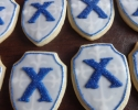 Sugar cookie Xavier University logos