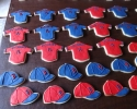 Sugar cookie Boston Red Sox jerseys and caps
