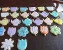 Sugar cookie teapots, teacups and flowers