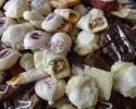 Apricot Meltaways - Chocolate-Dipped Citrus Strips - Chocolate Chocolate Chip - Chocolate Shortbread - Dark Chocolate Espresso Shortbread - Italian Knots - Lemon Brittle - Lemon Drops - Lemon White Chocolate Chip - Nut Meltaways - Raspberry Almond Thumbprints - Red Velvet