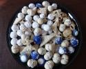 Blueberry Meltaways - Colored Thumbprints (royal blue) - Double Almond Delights (UFOs) - Lemon on Lemon - Nut Balls - Peanut Butter Bites