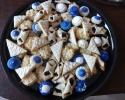 Blueberry Meltaways - Coconut Macaroons - Colored Thumbprints (royal blue) - Lemon on lemon