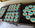 Sugar cookies with the Quartet Health logo
