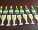 Sugar cookie champagne bottles and flutes