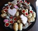 Chocolate Shortbread Ice Cream Cones - Lady Locks - Mini Cheesecakes - Sugar Cookie Wedding Cutouts