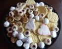 Nut Balls - Pecan Tassies - Raspberry Almond Thumbprints - Sugar Cookie Wedding Cutouts - Vanilla Pizzelles