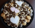Peanut Butter Blossoms - Salted Caramel Thumbprints - Snickerdoodles - Sugar Cookie Wedding Cutouts