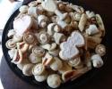 Cafe Macchiato Cups - Chocolate Chip Cinnamon Sticks - Nut Horns - Strawberry Lilies - Sugar Cookie Wedding Cutouts - Vanilla Crinkles