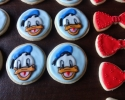 Sugar cookie Donald Ducks and red bowties